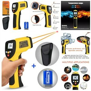 Non contact Digital Laser Infrared Thermometer With Adjustable Emissivity New