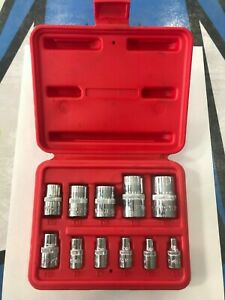 Mac Tools External Torx Etorx Shallow Short Socket Set 11pc Used