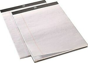 Staples M By 8 1 2 X 11 3 4 White Perforated Note Pad Wide Rule 24383536