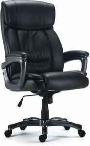 Staples Lockland Bonded Leather Big Tall Managers Chair Black 53235 58067