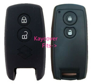 Black Silicone Car Cover For Suzuki Smart Key Grand Vitara Swift Sx4 Jlx