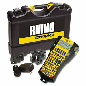 Rhino 5200 Industrial Label Maker Kit 5 Lines 4 9 10w X 9 1 5d X 2 1 2h