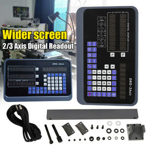 2 3 Axis Digital Readout Dro Display Ttl Linear Scale Cnc Milling Lathe Kit Best