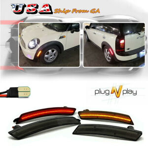 4x Front Amber rear Red Led Side Fender Marker Light Turn Signal For Mini Cooper
