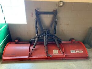 Used Western 23766 7 Snow Plow Red Heavy Duty Professional
