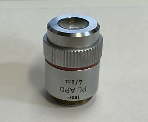 Leitz Plan Pl Apo 4x 0 14 Microscope Objective 160mm Plan Apochromat