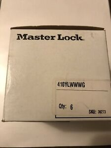 New Master Lock Safety Lockout Padlock Yellow 410ylw Meets Osha Requirements