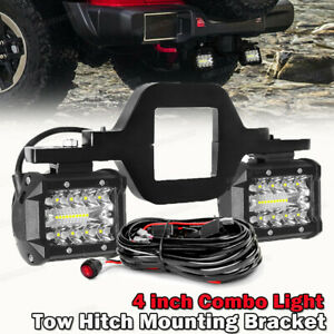 Tow Hitch Mounting Bracket 3 Row Led Work Light Pods Backup Reverse 4 For Truck