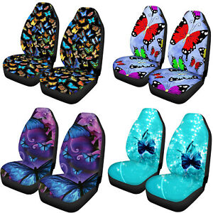 Butterfly Car Seat Covers For Women Funky Auto Interior Elastic Universal Fit