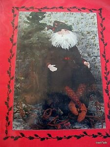 Barbara Willis Christmas Craft Pattern Forest Santa Claus Seated 20 Button Joint