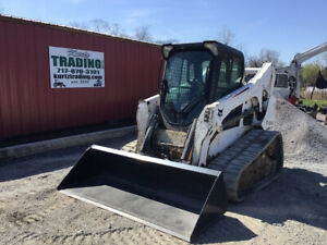 2014 Bobcat T770 Compact Track Skid Steer Loader W Cab Acs Controls 2800hrs