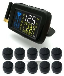 Sykik tpms 10 Wheel Real Time Tire Pressure Monitoring System For rvs trucks 10