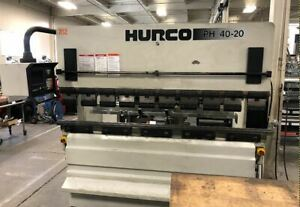 Hurco 44 Ton X 82 Cnc Hydraulic Press Brake Hurco Autobend 7 Backgauge