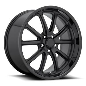 20x8 5 Et32 Us Mag U123 Rambler 5x114 3 Matte Black W Black Wheels set Of 4