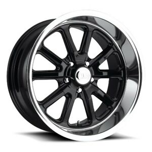 22x11 Et18 Us Mag U121 Rambler 5x127 Black Wheels set Of 4
