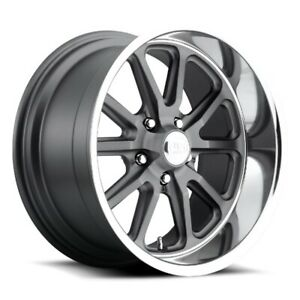 20x8 Et1 Us Mag U111 Rambler 5x127 Matte Anthracite Rims set Of 4