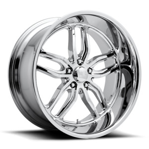 22x8 5 Et1 Us Mag U127 Cten 5x127 Chrome Rims set Of 4
