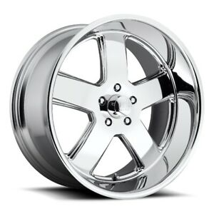 20x8 Et1 Us Mag U116 Hustler 5x120 7 Chrome Rims set Of 4
