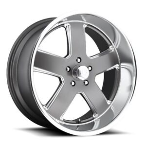 20x8 Et1 Us Mag U118 Hustler 5x120 7 Matte Anthracite Rims set Of 4