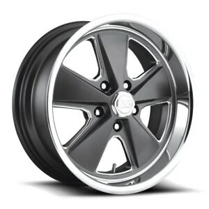 17x7 Et1 Us Mag U120 Roadster 5x120 7 Anthracite W polished Lip Rims set Of 4
