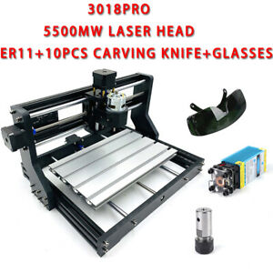 2 in 1 3 Axis Cnc3018 Pro Diy Router Kit 5500mw Laser Engraving Machine Win 10