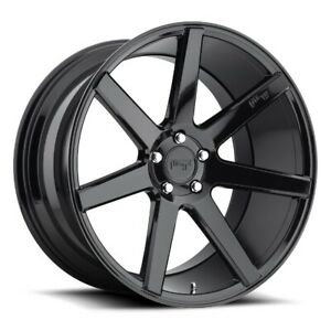 20x10 Et40 Niche M168 Verona 5x114 3 Black Rims set Of 4