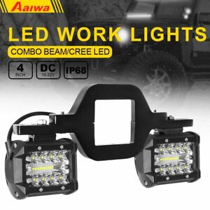 Tow Hitch Mounting Bracket 2x 4 Backup Reverse Tri Row Led Pods Lights Lamp