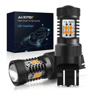 Auxito 7443 7440 Amber Yellow Led Turn Signal Brake Tail Side Marker Light Bulb