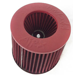 Airx Racing All Red 3 5 Inch 89mm Cold Air Intake Cone Filter Universal Fitment