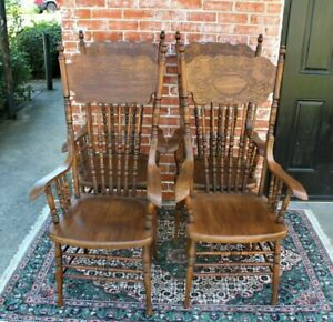 Set Of 4 American Antique Chairs Dining Room Furniture