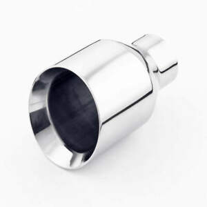 Stainless Steel Exhaust Tip 2 5 Inlet 4 5 Out Double Wall 7 Long Angle Cut