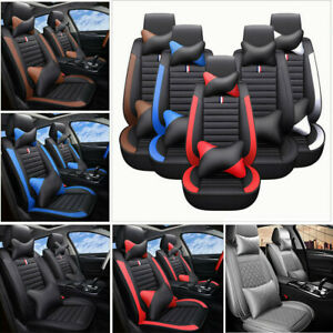 Car Seat Covers Protector Pu Leather 5 sits Cushion Interior Universal 4 Seasons