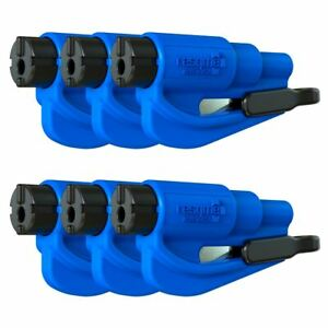 Resqme Car Escape Tool Blue 6 Pack Seatbelt Cutter Window Breaker