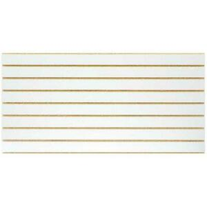 Slatwall Panel White Wood Easy Installation Wall Organization 2 piece Per Box