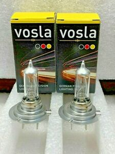 2x Vosla H7 100 Lamps Made In Germany Bright Way Better Then Xtravision