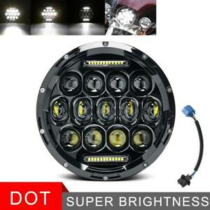 280w 7 Inch Round Led Headlight Hi Lo Beam Drl Motorcycle Fit For Aprilia Harley