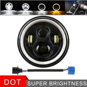 Dot 7 Inch Headlight Round Led Projector For Harley Cafe Motorcycle