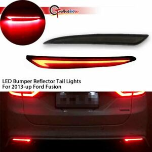 Fit 2014 2015 2016 2017 Ford Fusion Smoked Bumper Fog Lights Tail Lamps