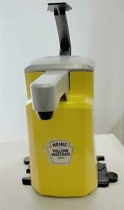 Heinz Asept Yellow Mustard Top Commercial Hand Pump Condiment Dispenser