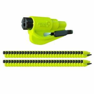 Resqme Car Escape Tool Yellow 50 Pack Seatbelt Cutter Window Breaker
