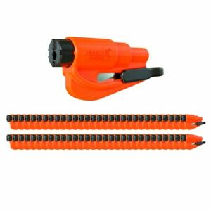 Resqme Car Escape Tool Orange 50 Pack Seatbelt Cutter Window Breaker