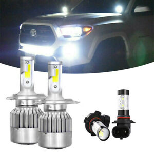 Combo Led Headlight Kit For Toyota Tacoma 2005 2011 Hi Low Beam Fog Light Bulb