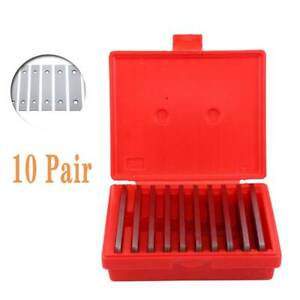 Shars 1 8 Steel Parallel Set 10 Matched Pairs Parallels 0 0002 Hardened box