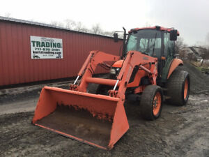 2007 Kubota M6040 4x4 Diesel Utility Tractor W Cab Loader Only 2700 Hours