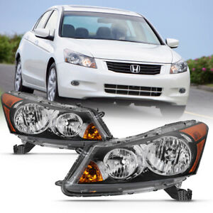 Pair For 08 12 Honda Accord Sedan Factory Style Replacement Headlight Assembly