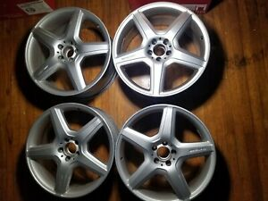 Set Of 4 Mercedes Cl S Amg Class 2009 2013 Factory Oem Staggered Wheels Rims