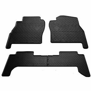 Rubber Floor Liners Carmats For Nissan Patrol Y61 5d 1997 2008 All Weather 4pc