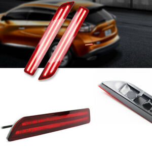 2x Led Rear Bumper Lamp Reflector Tail Brake Lights For For 15 18 Nissan Murano