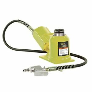 Esco 10399 Yellow Jackit 20 Ton Air hydraulic Bottle Jack shorty Min Height