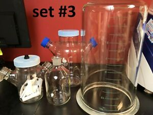 Lab Glassware Set gelman Pyrex Kimax erlenmeyer filter Volumetric Flasks